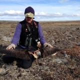 Brad with Peregrine kill