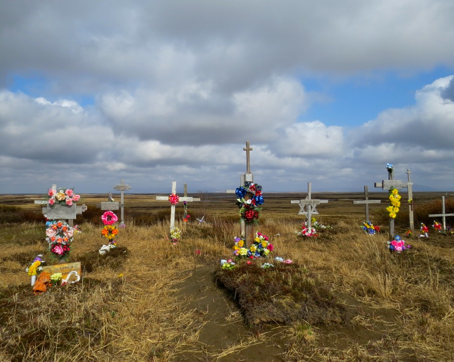 The view from the cemetery in Chevak.