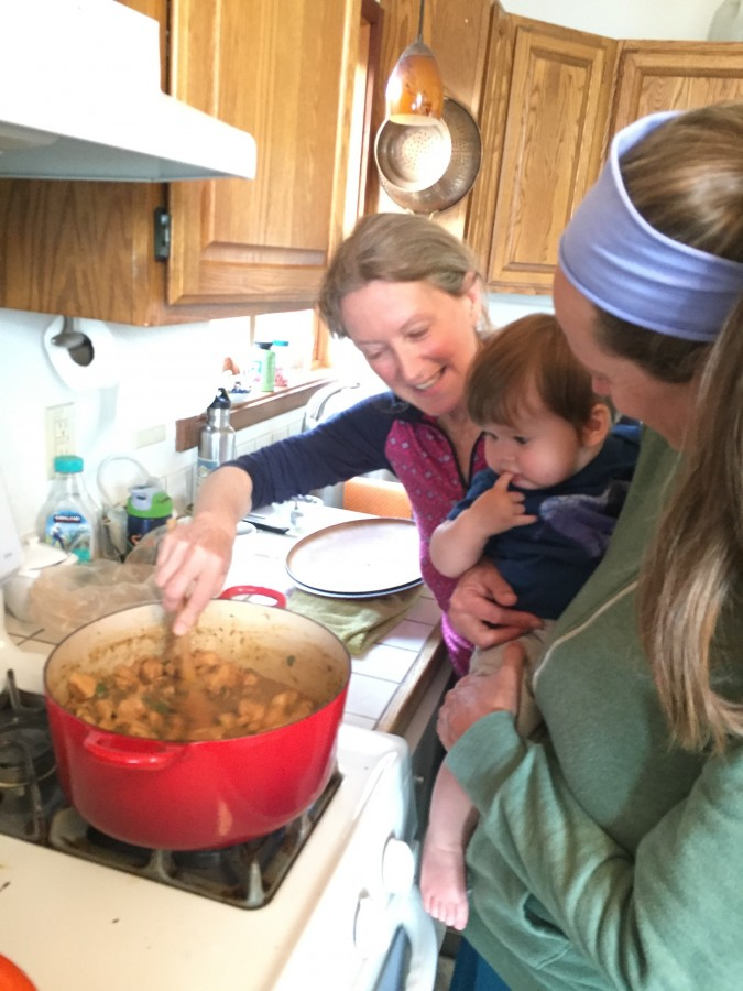 Metta prepares a curry for camp while River introduces her son Logan to our shared love of culinary pleasures.