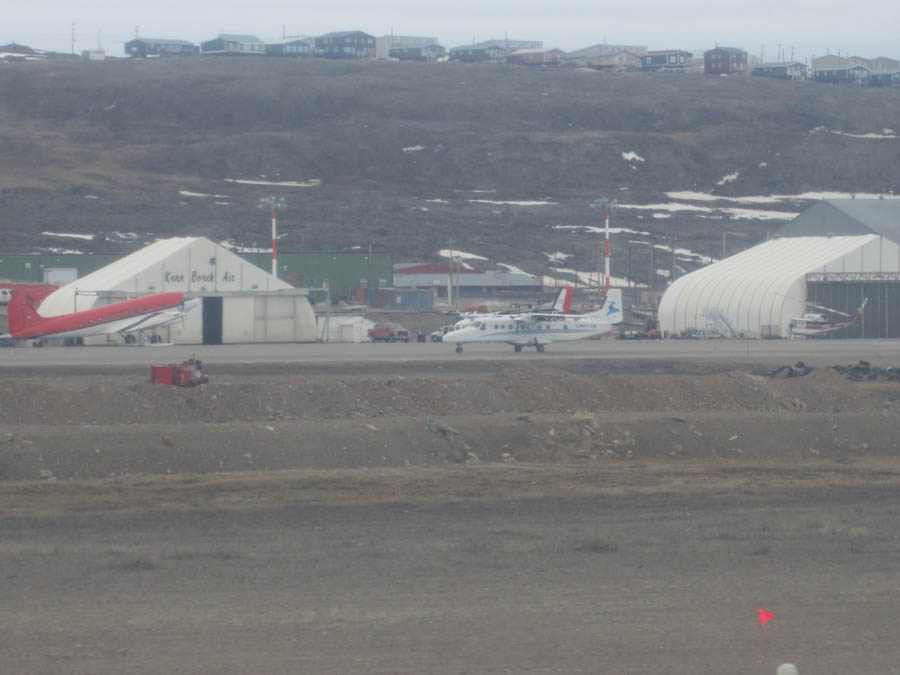 As we taxied into the Iqaluit airport, we caught sight of Ken Borek Air, the flight service that will be taking us by Twin Otter to Coats Island on June 17th.