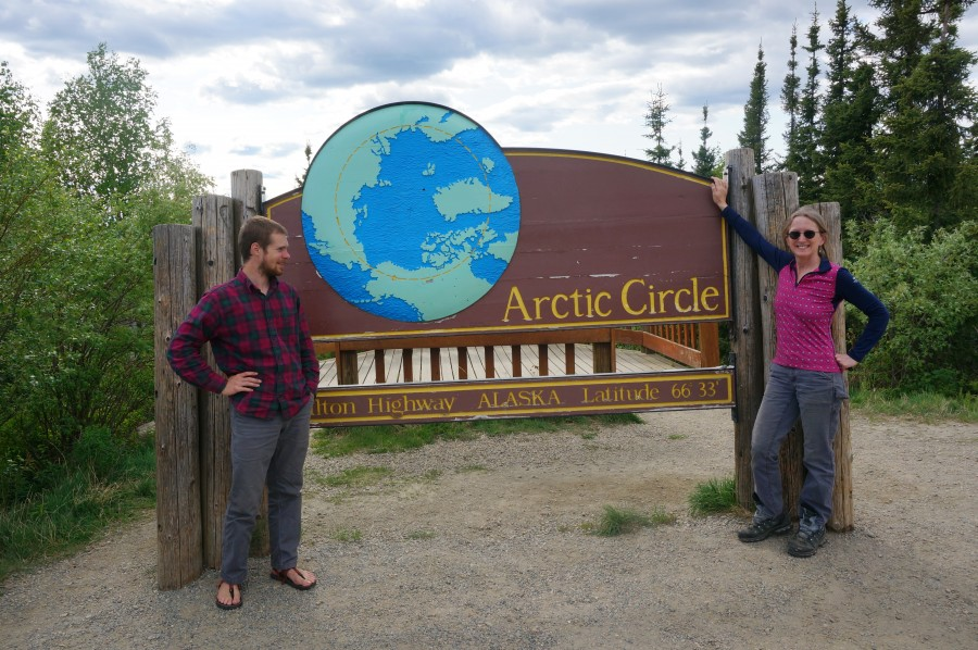 Photo Credit: Lindall Kidd. Crossing the Arctic Circle is a major milestone of the drive.