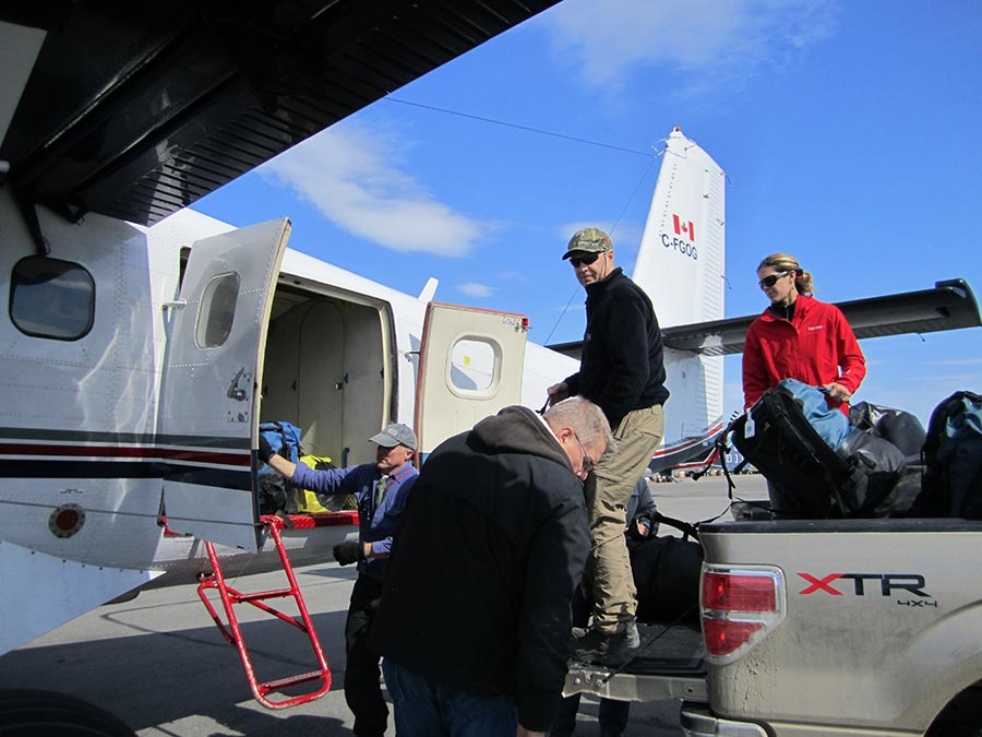We are flying out to Coats Island in a Twin Otter, a huge workhorse of a bush plane that has way more capacity than the smaller planes we are used to working with.  It will accommodate five people and all our gear in one load!