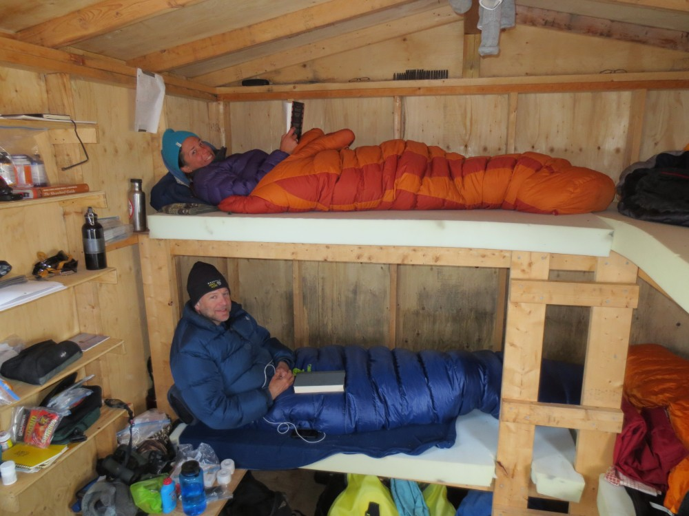 At the end of a long day, having a cabin to sleep in is a real luxury compared to our many years sleeping on the arctic ground in tents.