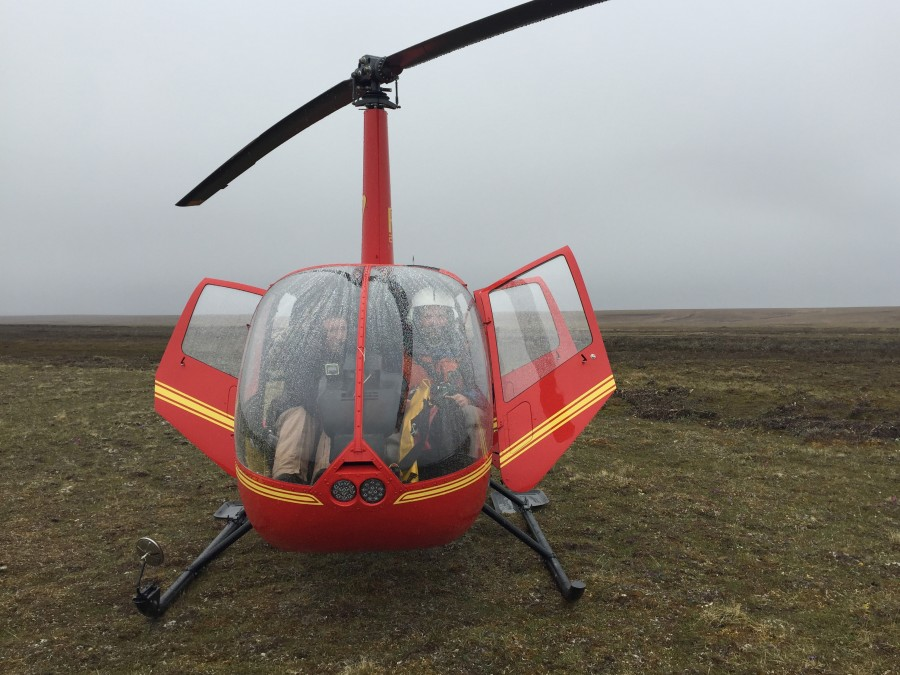 Sub-optimal survey conditions are common on the North Slope. We lucked out with the weather for the most part though and Nick Myers was a great pilot and member of the crew. Photo by Lindall Kidd.