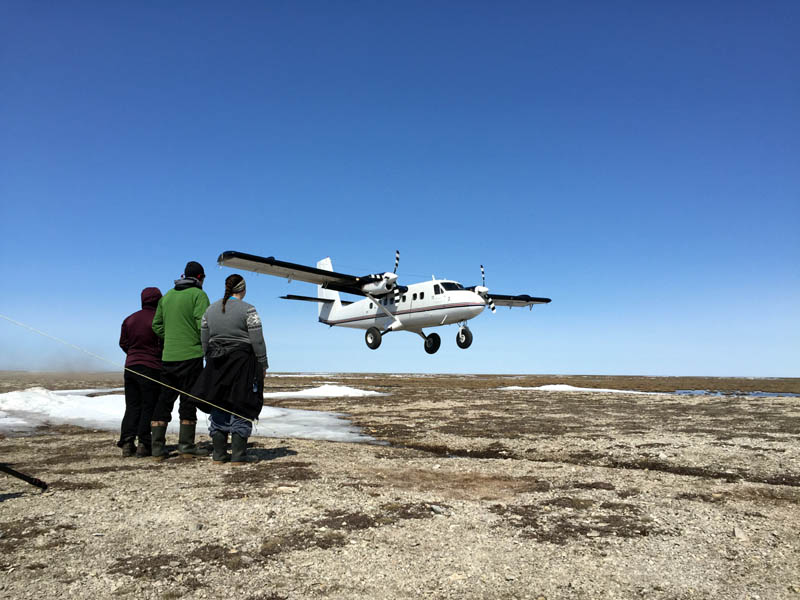 Twin Otters are the work planes of the Arctic. The carry a large payload and are capable of landing almost anywhere